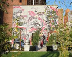 """Check out the amazing artsy rooftop at The Hakimian Organization's 184 Lexington Avenue. Fun Fact: Artists are Brooklyn-based street artists: """"Sheryo"""" and """"The Yok""""   http://therealdeal.com/issues_articles/tagged-at-184-lexington/  #thehakimianorganization #midtown #streetart #graffiti"""
