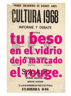 TU BESO EN EL VIDRIO - 68 el culo te abrocho   Roberto Jacoby, TU BESO EN EL VIDRIO - 68 el culo te abrocho (2008)