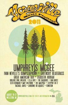 Hoxeyville Music Festival Poster & Tees 2011 by Dani Gudowski, via Behance