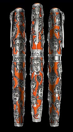 Caran d Ache, homenaje al Buddha Pencil Writing, Writing Pens, Buddha Face, Luxury Pens, Fine Pens, Caran D'ache, Pen Collection, Best Pens, Calligraphy Pens
