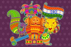 Traditional National Symbols Of India. - Download From Over 60 Million High Quality Stock Photos, Images, Vectors. Sign up for FREE today. Image: 88806370