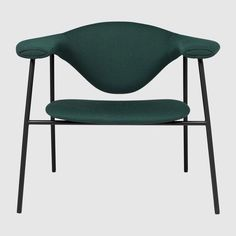 Masculo Gubi Lounge Chair Masculo designed by GamFratesi for Gubi is a lounge chair with black steel powder coated base and upholstery available in fabric or leather. Metal Dining Chairs, Lounge Chairs, How To Clean Metal, Upholstered Chairs, Four Legged, Fine Dining, Chair Design, Legs, Leather