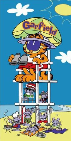 A day at the beach! Garfield