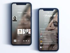 Simple music player designed by Yin. Connect with them on Dribbble; Mobile Ui Design, App Ui Design, Interface Design, Flat Design, Design Design, Dashboard Design, Icon Design, Motion Design, Design Thinking