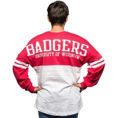 What are you wearing? #WisconsinBadger League Women's Ra Ra Long Sleeve T-Shirt