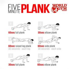 Your core is soooo important to your overall fitness! A strong core will improve your results when you workout other body parts and help stabilize your posture during the day. Here are some plank exercises to help give you the core of your dreams! #absofsteel #coreprincipals #beastmode #fitness #workout #WorldGym