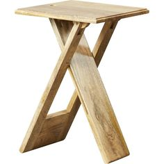 Orren Ellis Boysen Folding End Table & Reviews | Wayfair Small Tables, End Tables, Small Table Ideas, Wooden Tops, Wood Slab, Diy Table, Folding Table Diy, Diy Woodworking, Wood Projects