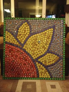 bottle cap art | Art * Painting * Inspiration * | Pinterest
