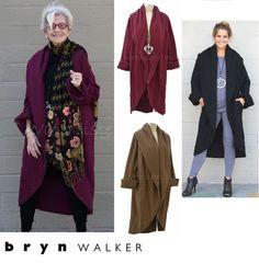 BRYN WALKER USA Bamboo Cotton Fleece  LONG WRAP COAT  Jacket  1X 2X 3X  3 COLORS | Clothing, Shoes & Accessories, Women's Clothing, Coats & Jackets | eBay!