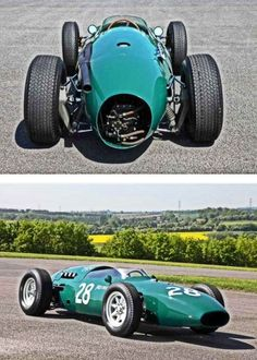 419 Vanwall VW14 (1961) Old Sports Cars, Old Race Cars, Indy Car Racing, Indy Cars, Aston Martin, Bristol, Vintage Race Car, Automotive Art, Car And Driver