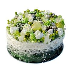 Bloementaart wit - White Flower cake