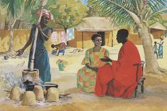 Chronicles of Janie - I'm Not Really an Evangelist (But I Do Share My Testimony A Lot) Black Jesus, Mary And Martha, Biblical Art, African Artists, African Print Dresses, Bible Art, Christian Art, Religious Art, Black Art