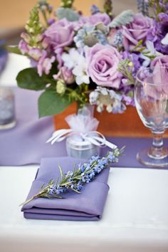 lavender wedding decorations for the table love these decorations and colors