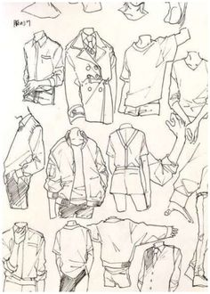 Shirt Drawing, Guy Drawing, Drawing People, Drawing Base, Drawing Ideas, Jacket Drawing, Illustrator Design, Cartoon Outfits, Anime Outfits