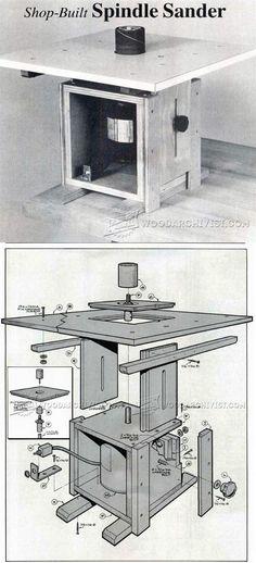 DIY Spindle Sander - Sanding Tips, Jigs and Techniques | WoodArchivist.com