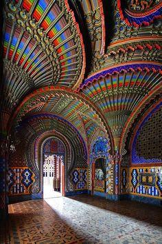 Peacock Room, Castello di Sammezzano,  Tuscany,  Italy