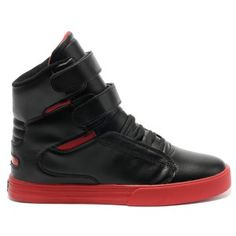 Supra Tk Society Red Black Patent Lakers High Top Men Shoes