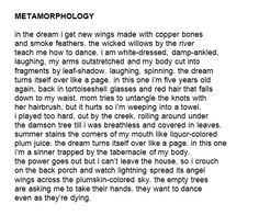 Metamorphology by Keaton St. Writing Quotes, Poem Quotes, Writing Prompts, Pretty Words, Beautiful Words, Verbatim, Aesthetic Words, English, Writing Inspiration