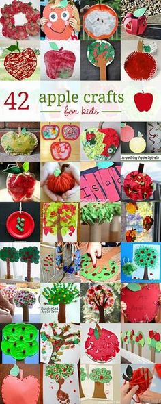 Uberlegen 42 Adorably Cute Apple Crafts For Kids To Make In The Fall