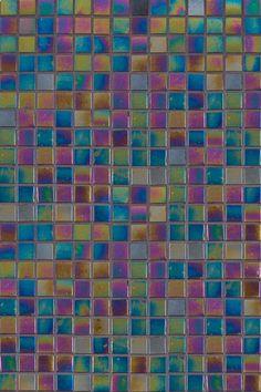 Twilight Opalescence Glass backsplash tile