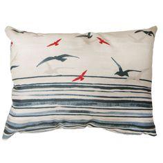 Rathmore Seaside Filled Cushion, Blue & Cream