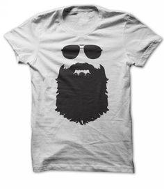 Aviator Glasses And Beard T Shirts, Hoodies, Sweatshirts. GET ONE ==> https://www.sunfrog.com/Funny/t-shirt-beardman-invisible.html?41382
