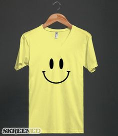 Cool Retro Acid Smiley Face - Acid House Music Shirt - Clothes, fashion for men, women, teens and kids Great T Shirts, T Shirts For Women, Acid House, Yellow Shirts, Shirt Outfit, V Neck T Shirt, Cool Outfits, Cool Stuff, Retro