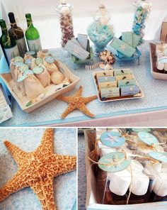 Beach style wedding parties-celebrations
