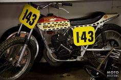 Bultaco Astro speedway motorcycle seen at Bultaco Motorcycle Museum