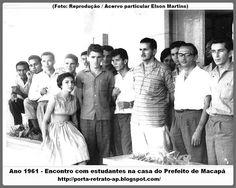 1961 - Encontro com estudantes na casa do Prefeito de Macapá