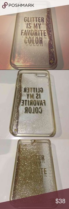 Kate spade glitter iPhone 6 Plus Kate spade glitter is my favorite color iPhone 6 Plus case! kate spade Accessories Phone Cases