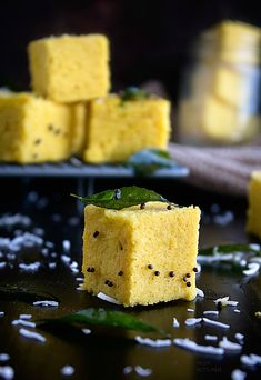 Besan dhokla is savory cake made with gram flour or besan. A quick tadka or tempered spices will finish it off beautifully. Indian Snacks, Indian Food Recipes, Ethnic Recipes, Pongal Celebration, Dhokla Recipe, Gram Flour, Chickpea Recipes, Cake Videos, Flour Recipes