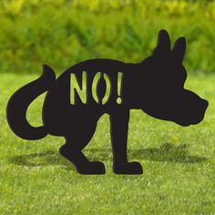 "Just Say NO Dog Shadow Pattern.  Simular to our painted version (Pattern #2141) yet easier to make and just as affective. It will surely get it's point across to your dog walking friends. 20""T x 27""W  Pattern #2343  $7.95   ( crafting, crafts, woodcraft, pattern, woodworking, yard art, flag, silhouette, shadow ) Pattern by Sherwood Creations"
