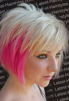 like the cut but not with pink - short hair styles for women