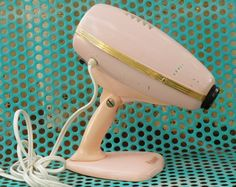 Vintage 50s-60s Pink Ronson Retro Stand Hair Dryer