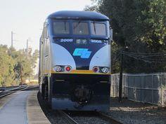 CDTX #2008 (EMD F59PHI) in Davis, CA Amtrak California F59PHI #2008 shoves Capital Corridor train #720 out of the Davis Amtrak station.
