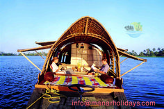 HOUSEBOAT A houseboat is a boat that has been designed or modified to be used primarily as a home. It includes two or more bedrooms apart from a living room and kitchen.These are made of wood, and usually have intricately carved wood paneling.