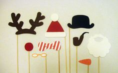 Printable Christmas photobooth props on Etsy. I'll take these to the Crowder Xmas eve party