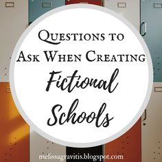 Quill Pen Writer: Questions to Ask When Creating Fictional Schools Creative Writing Tips, Book Writing Tips, Writing Resources, Writing Help, Writing Skills, Writing Prompts, Writing Ideas, Persuasive Writing, Story Prompts
