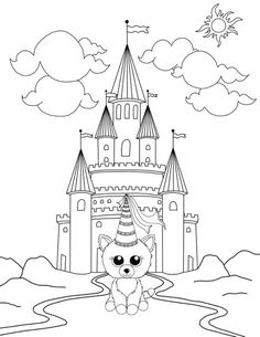 Beanie Boo Coloring Pages: Unicorn in the Enchanted Forest