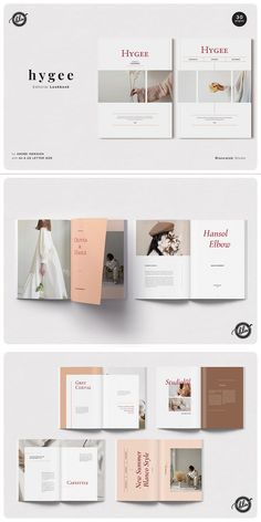 Hygee is a fashion lookbook layout for spring - summer lifestyle. With layered imagery, bold graphic elements and flashes of color. The layouts are minimal, beautifully spaced and elegant.