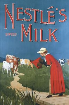 Nestle's Milk poster advert: another great idea for decorating a kitchen wall.