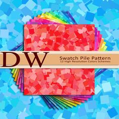 Color Swatch Pile Pattern  Digital Files  12 by DeltaWhiskeyDesign, $1.99