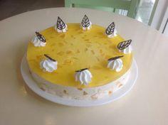 mango mousse cake by sweet aroma