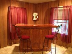 5 Foot HOME BAR via Etsy. handmade idea