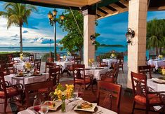Bayside restaurant. Who could resist dining here with a view like this? | Sandals Resorts | Jamaica