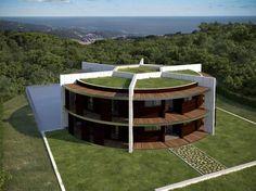 Arquiteto cria mansão para #Messi em forma de campo de futebol - Terra Brasil