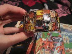 DIY Comic Strip Bangle Bracelet