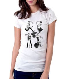 5 Second Of Summer With Red Signature - Women - Shirt - Clothing - White, Black, Gray - @Dianov93