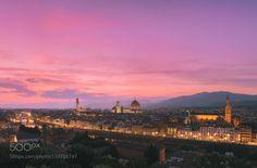 Florence Lighting Up by fpenta #nature #travel #traveling #vacation #visiting #trip #holiday #tourism #tourist #photooftheday #amazing #picoftheday